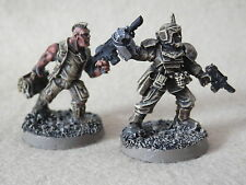 WARHAMMER IMPERIAL GUARD ARMY- CADIAN COMMANDER AND CATACHAN GUARDSMEN