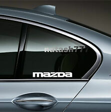 2 - MAZDA 3 5 RX7 RX8 Mazdaspeed Racing Decal sticker emblem logo WHITE