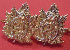 CANADA QOR Canadian Armed Forces Queen's Own Rifles metal collar bars dogs