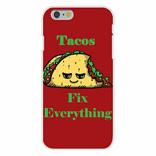 Tacos Fix Everything Food Humor Cartoon Fits iPhone 6+ Snap On Case Cover New