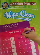 A+ Lets Grow Smart Addition Practice Wipe-Off Workbook Homeschool Grade 1