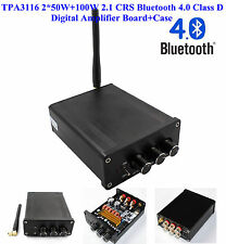 US TPA3116 2*50W+100W 2.1 CRS Bluetooth 4.0 Class D Digital Amplifier Board+Case