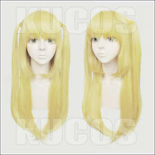 677 Death Note Misa 60cm Blond Cosplay Costume Wig 2pigtails
