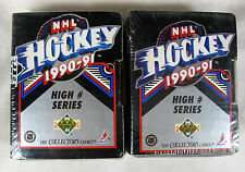1990 91 Upper Deck NHL Hockey High Series Cards 401 - 550 Lot 2 TWO SEALED BOXES