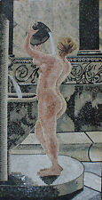 Lady Shower Bathroom Wall Art Decorative Painting Marble Mosaic FG809