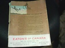 VINTAGE EATONS FALL & WINTER CATALOG 1960