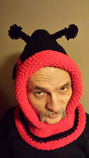 Hand knitted character Lady BUG  hat