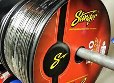 25 Foot Cut Stinger Pro Series 12 Gauge AWG Black Copper Speaker Wire SPW512BK