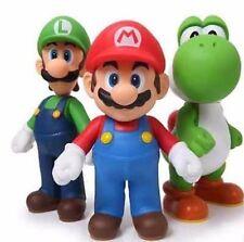 3pcs/lot Super Mario Bros Luigi Mario Action Figures Doll Toys 13cm High