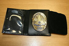LEATHER LAPD LOS ANGELES POLICE BADGE ID WALLET HOLDER L.A.P.D. LAPD NO BADGE!!