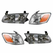 2000 2001 TOYOTA CAMRY HEADLIGHTS AND CORNER PARK LAMPS LIGHTS RIGHT & LEFT