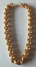 CHUNKY  MEN'S 26 INCH Belcher Chain in Jewellers Bronze 397g Dipped in 18ct Gold