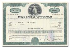Union Carbide Corporation Bond Certificate
