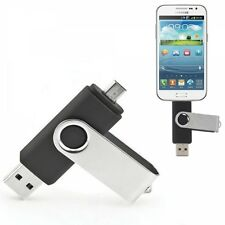 32GB Rotatable Clip OTG USB Flash Drive for Smart Phones/Tablet PCs Black