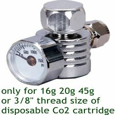 "CO2 pierce Regulator Only For 16g20g 45g 3/8"" disposable cartridge cylinder tank"