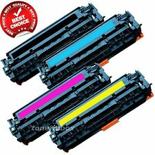 Set of 4 PK CE320A 128A Laser Toner For Color LaserJet Pro CM1415FNW CP1525NW