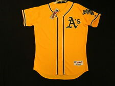 Authentic! Majestic SZ. 60 4XL, OAKLAND A'S, ALTERNATE GOLD, ON FIELD Jersey