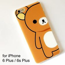 Rilakkuma Brown Transparent Soft Silicone Back Cover Case iPhone 6 Plus /6s Plus