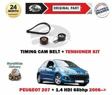 FOR PEUGEOT 207 + 1.4 HDI 68bhp 2006-2015 TIMING CAM BELT + TENSIONER KIT