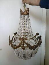 Antico LAMPADARIO a gocce - Stile Impero - Mongolfiera con swarovski