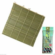 Roll-Up Bamboo Wood Placemats - Dinner Table Setting Sushi Mats