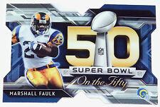 2015 Topps Chrome Football Super Bowl On The 50 #SBDC-MF Marshall Faulk