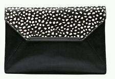 BNWT MIMCO ORIGAMI SPOTTED HAIR LEATHER ENVELOPE CLUTCH WALLET BAG RRP $229 99c