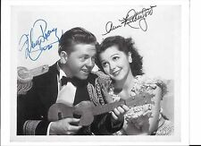 Mickey Rooney (dec) in-person & Ann Rutherford (dec) signed /autographed BW pic