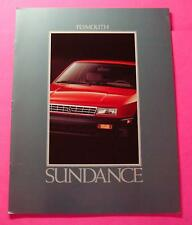 1992 PLYMOUTH SUNDANCE SHOWROOM SALE BROCHURE ..20- PAGES