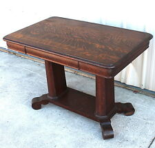 1900 10 BOLD QUARTERSAWN OAK OLD FINISH LIBRARY TABLE STAND