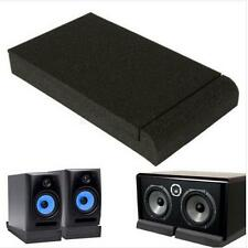 "Black Isolator Sponge Pads for 5"" Monitors Foam Speaker Isolation Studio Q"
