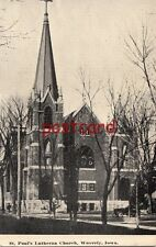 1911 WAVERLY IA St. Pauls Lutheran Church, old auto, to Mr. Walter Melchert