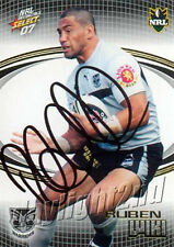Signed 2007 NEW ZEALAND WARRIORS NRL Card RUBEN WIKI