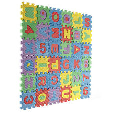 "36 pieces Foam Alphabet Letters Numbers Mat Jigsaw Puzzle (2"" by 2"" Each block)"