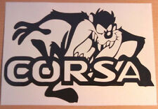 funny taz vauxhall corsa vinyl car sticker rear window side bumper graphic decal