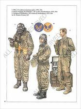 PLANCHE UNIFORMS PRINT WWII United States Air US Force USAF Pilot Squadron Italy