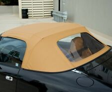 Mazda Miata Convertible Top 2 Piece Zipper & Plastic window 89-05 Tan Cabrio