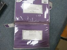 SILKY SOFT Satin 6 piece QUEEN Sheet Set PLUM Polyester NEW DEEP FITTED 17 INCH
