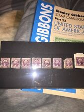 United States Vintage Stamps 1932 Rotary Press Printings Used x8