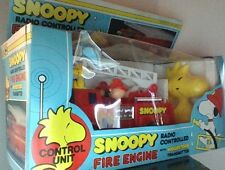 Vintage Peanuts Snoopy Remote Control Fire Engine Aviva New In Box Hard To Find
