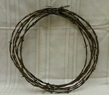Vintage BARB WIRE Rustic Arts Crafts Western Decoration Used Barbed Barbwire