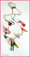 MONSOON ACCESSORIZE ETHNIC STYLE BEAD, FISH, BUTTERFLY & FAN CHARM NECKLACE BNWT