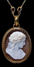 Antique Cameo Gold Locket Necklace  c. 1880
