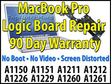 "APPLE MACBOOK PRO 15"" A1226 820-2101-A 2.2Ghz 2.4Ghz 2.6Ghz LOGIC BOARD REPAIR"