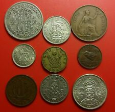 1946 George VI British Pre-Decimal Coins Set Inc 40 gr. Silver in Prot Wallet