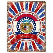 PP1004 USA MISSOURI State Flag Chic Sign Home Shop Store Room Wall Decor