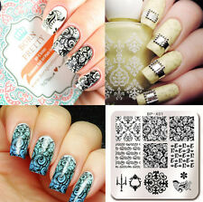 BORN PRETTY Nail Art Stamp Template Image Stamping Plates Baroque 6*6cm BP-X01