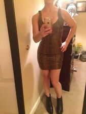MICHAEL HOBAN NORTH BEACH leather snake print dress 6  LAST CALL