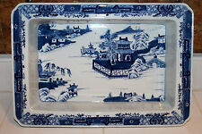 Antique Chinese Canton Blue and White Porcelain Pot Planter Basin Jardiniere