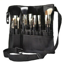 Professional 22 Pockets Cosmetic Makeup Brush Pouch Bag Artist Apron Belt Strap